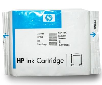 HP Original Tintenpatrone Light Cyan HP38 Neu Originalverpackt