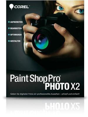 Paint Shop Pro Photo X2 inkl. Paint Shop Xtras