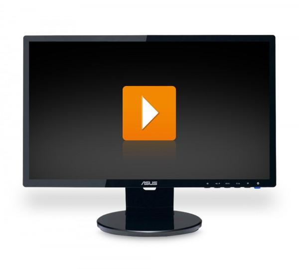 Asus VE198S - 19 Zoll TFT Flachbildschirm Monitor - interne Lautsprecher - schwarz