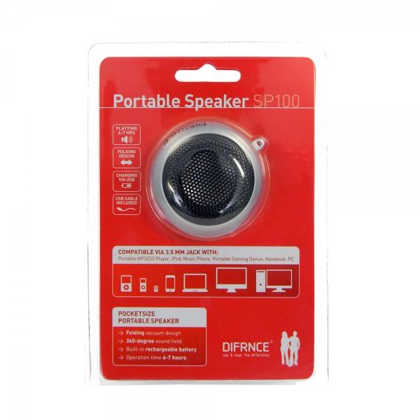 DIFRNCE Portable SP-100 Lautsprecher - Silber