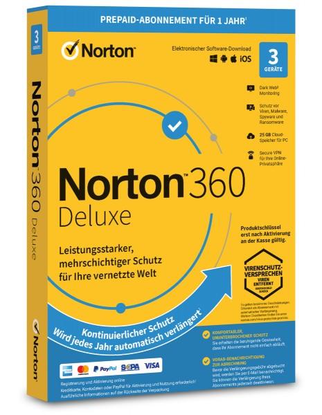 Norton 360 Deluxe 2021 / 2022 - 3 Geräte / 1 Jahr - ESD