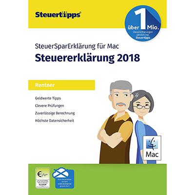 SteuerSparErklärung Rentner 2019 MAC (für Steuerjahr 2018) - ESD
