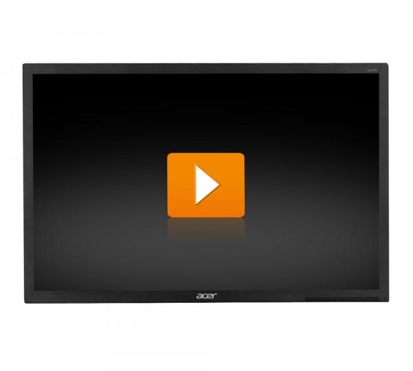 Acer B226WL - 22 Zoll TFT Flachbildschirm Monitor - interne Lautsprecher - dunkelgrau - ohne Fuß