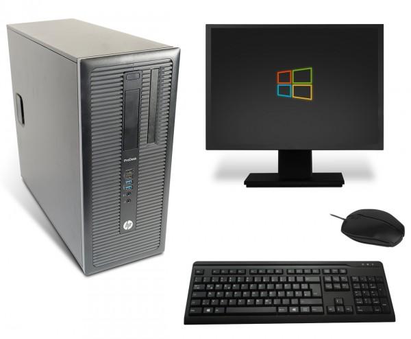 HP ProDesk 600-G1 Komplettsystem PC Computer - Intel Core i5-4570 4x 3,2 GHz DVD-Brenner