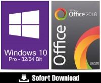 Windows 10 Pro (1PC) + Office 2018 Professional (5PC) - ESD