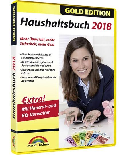 Haushaltsbuch 2018 - Gold Edition