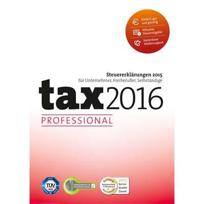 tax 2016 Professional (für Steuerjahr 2015) - ESD