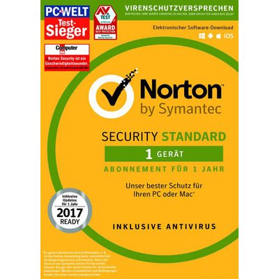 Symantec Norton Security 3.0 Standard - 1 Geräte - ESD