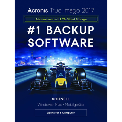 Acronis True Image 2017 Subscription - 1-Jahres-Abonnement für 1 Computer + 1 TB Acronis Cloud Stora