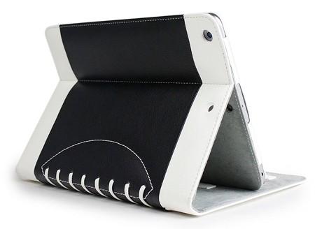 Noratio Smart Cover Footballstyle für iPad mini 1.-3. Gen. - schwarz / weiß