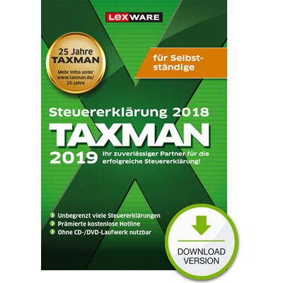 TAXMAN 2019 für Selbstständige - ESD