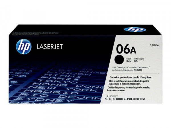 HP LaserJet Toner 6A - C3906A - OVP- Schwarz
