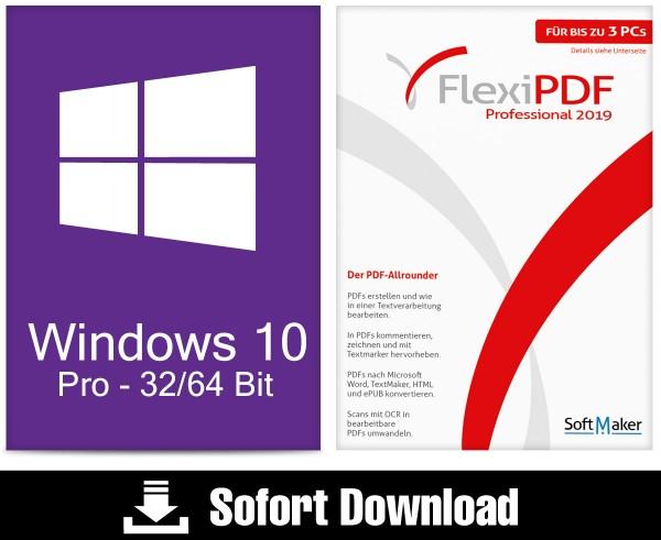 Windows 10 Pro + Flexi PDF Professional 2019 - ESD