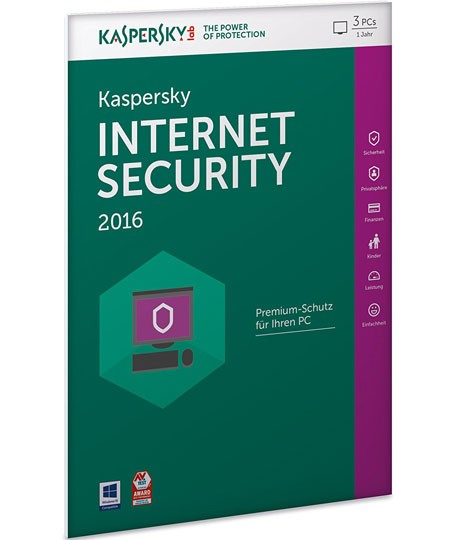 Kaspersky Internet Security 2016 - 3PC / 1Jahr