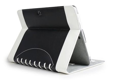 Noratio Smart Cover - Football Style für Galaxy Tab 3 / 4 - 10.1 - Schwarz