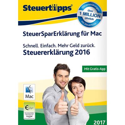 SteuerSparErklärung Mac 2017 (für Steuerjahr 2016) - ESD