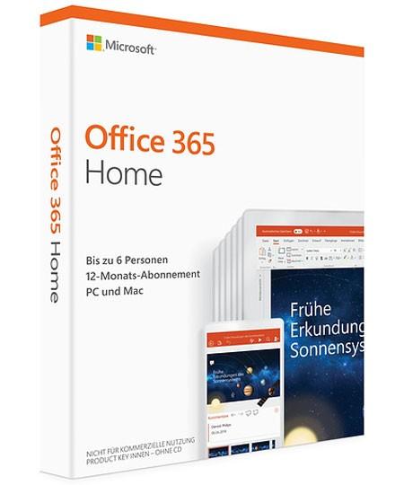 Office 365 Home PKC – bis zu 6 Personen für 1 Jahr