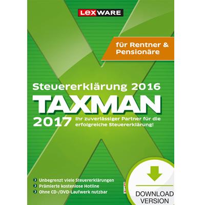 TAXMAN 2017 Rentner&Pensionäre (für Steuerjahr 2016) - ESD
