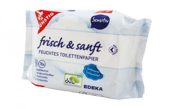 Toilettenpapier feucht Nachfüllpack sensitiv - 70 Tücher