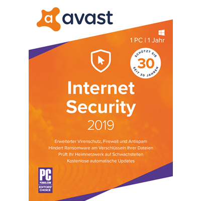 Avast Internet Security 2019 - 1 PC / 1 Jahr - ESD