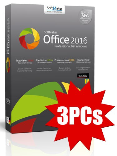 SoftMaker Office Professional 2016 - 3PCs - ESD