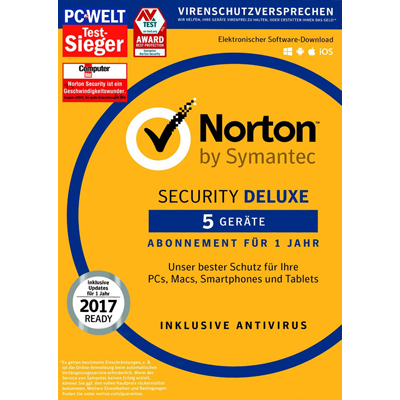 Symantec Norton Security 3.0 Deluxe - 5 Geräte - ESD