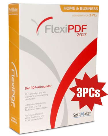 Flexi PDF Home and Business 2017 - 3PC