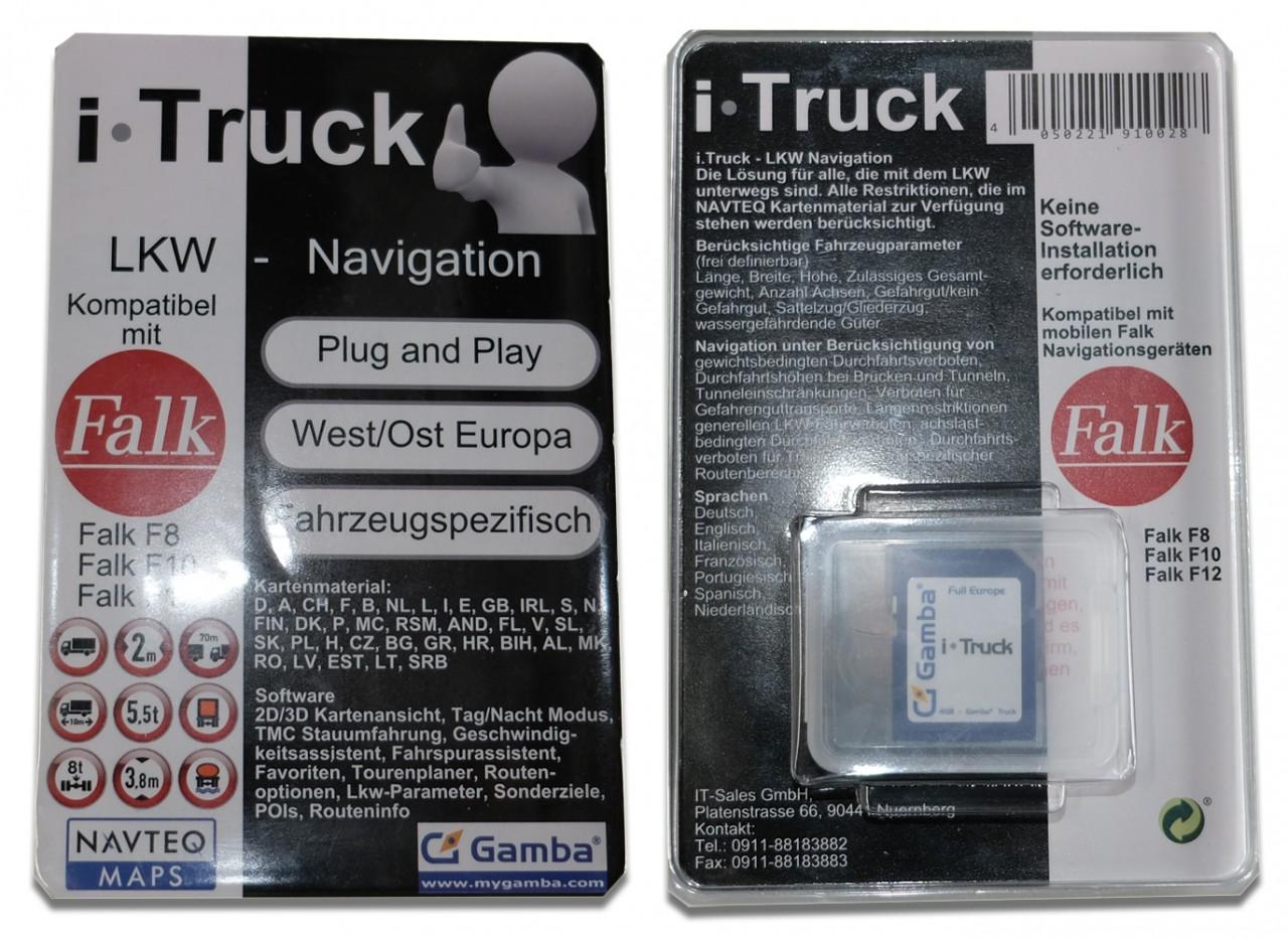 iTruck LKW-Navigationssoftware – 4GB SD-Karte