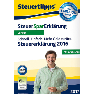 SteuerSparErklärung für Lehrer 2017 (für Steuerjahr 2016) - ESD