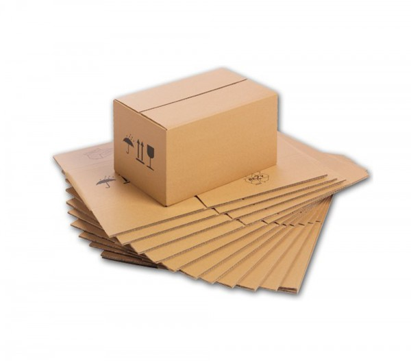 25er Pack - Karton 200x150x150 mm FEFCO 0201 - Qualität 1.1B - 1-wellig