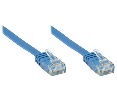 RJ45 Patchkabel Netzwerkkabel 5 Meter Cat6 UTP PiMF - Blau