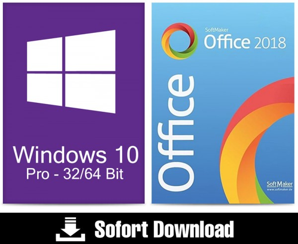 Windows 10 Pro (1PC) + Office 2018 Standard (5PC) - ESD