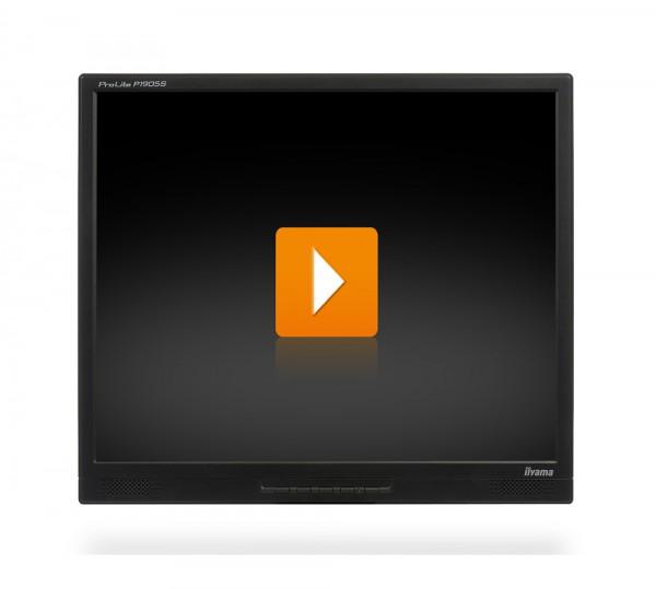 liyama ProLite P1905S - 19 Zoll TFT Monitor - interne Lautsprecher - schwarz - ohne Fuß