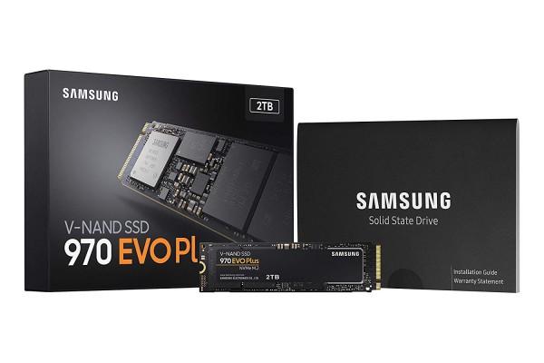 Samsung 970 EVO Plus 2 TB V-NAND SSD Festplatte - PCIe Gen 3 x4 NVMe M.2 - Intern schwarz