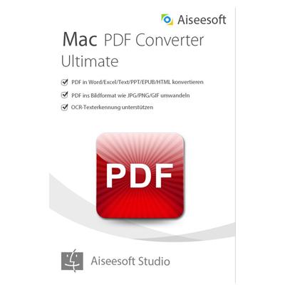 Aiseesoft PDF Converter Ultimate für Mac (Version 2017) - lebenslange Lizenz - ESD