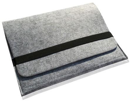 """Noratio universal Notebooktasche / Sleeve Deluxe Filz mit Innentasche für 11,1"""" Geräte - silber"""