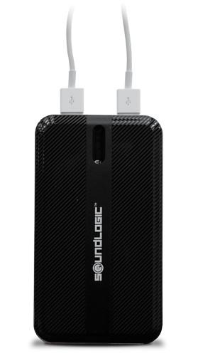 Soundlogic - Powerbank für 2 Geräte - 2x USB - 10000 mAh