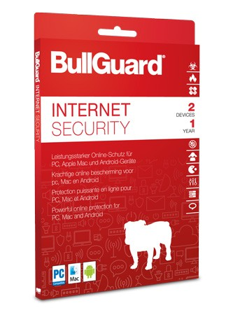 BullGuard Internet Security inkl. Antivirenschutz 2019 / 2020 - 2 User / 1 Jahr ESD