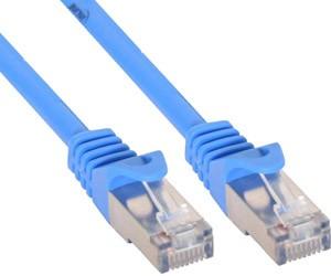 InLine - RJ45 Patchkabel Netzwerkkabel 3 Meter Cat5 SF/UTP - Blau