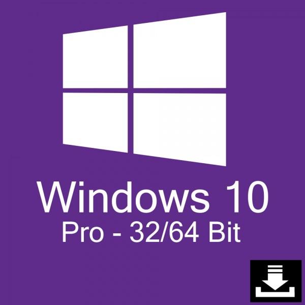 Windows 10 Pro Download Aktivierungsschlüssel für 32 / 64 Bit - Vollversion / Upgrade