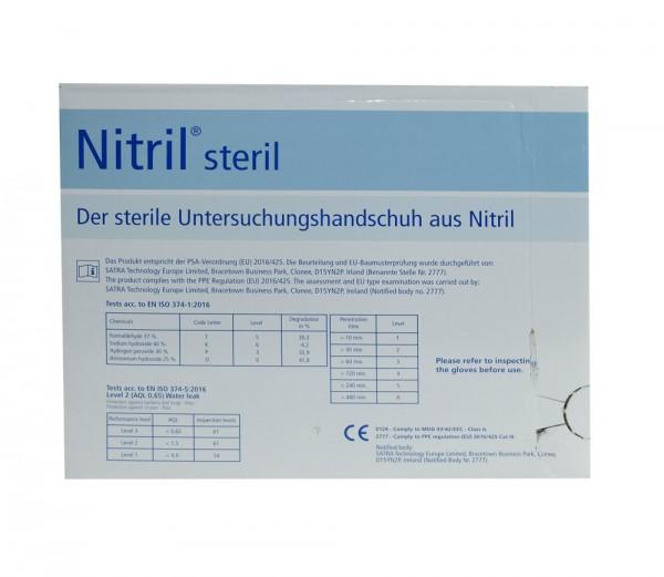 Nitrile Untersuchungshandschuhe - puderfrei Größe S - transparent weiss, Meditrade - 50er Pack