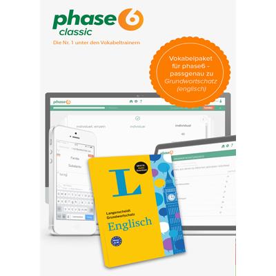 phase-6 Vokabelpaket zum Grundwortschatz Englisch - add-on - ESD