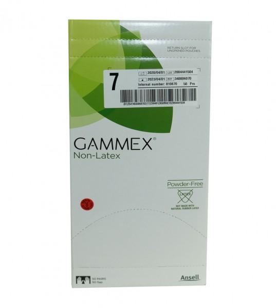Ansell Gammex - sterile Operationshandschuhe - Neopren puderfrei - Größe 7 - Grün - 50er Pack