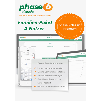 phase-6 classic Premium (2017) inklusive App für Android & iOS - 2 Nutzer / 12 Monate - ESD
