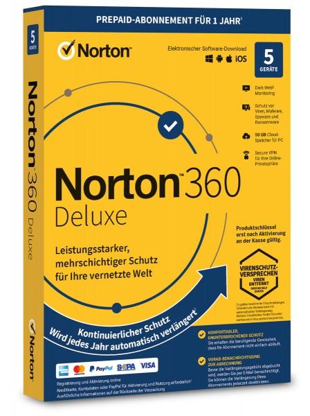 Norton 360 Deluxe 2021 / 2022 - 5 Geräte / 1 Jahr - ESD