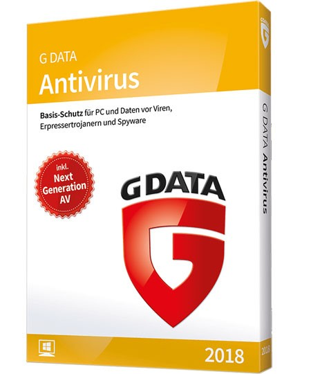 G Data Antivirus 2018 - 3 PC / 1 Jahr