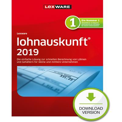 Lexware lohnauskunft 2019 - ESD