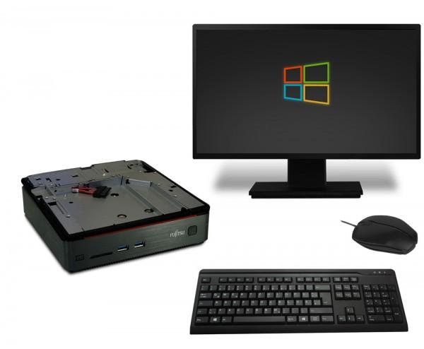 Fujitsu Esprimo Q520 Mini Komplettsystem PC Computer - Intel Core i3-4350T 2x 3,1 GHz