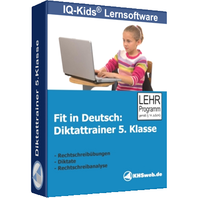 Fit in Deutsch - Diktattrainer - Klasse 5 - ESD