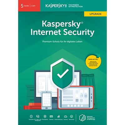 Kaspersky Internet Security (2019) Upgrade - 5 Geräte / 12 Monate - ESD